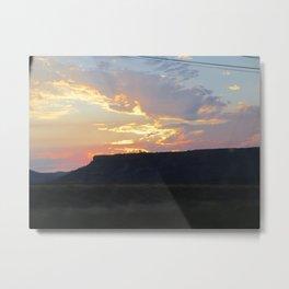 Sunset behind Table Rock in Oregon Metal Print