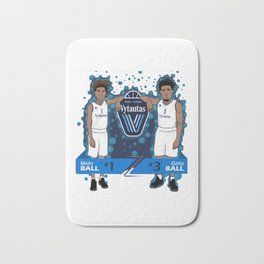 jersey numbers, LiAngelo and LaMelo Ball's Bath Mat