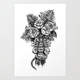 Facehugger Bouquet Art Print