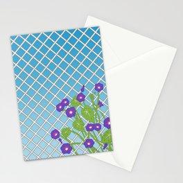 Morning Glory Pattern Blue Sky Stationery Cards