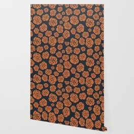 Janie's Roses - Copper Wallpaper