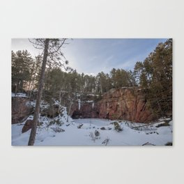 Northern Minnesota Frozen Quarry Landscape Canvas Print