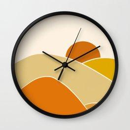Morning hill Wall Clock