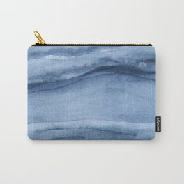 Indigo Blue Agate Pattern Carry-All Pouch