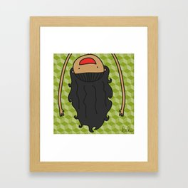 de cabeza Framed Art Print