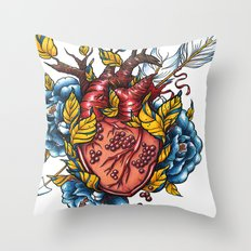 Pomegranate Heart Throw Pillow
