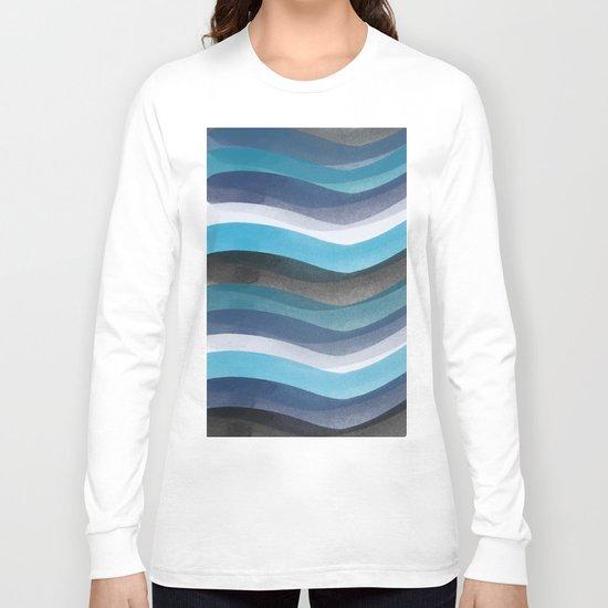 Blue lines Long Sleeve T-shirt