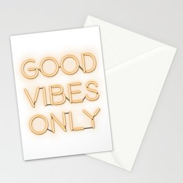 Neon Good Vibes - Orange Stationery Cards