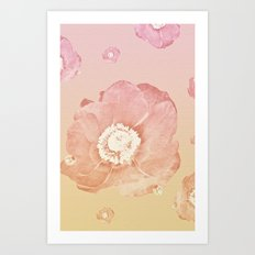 Falling Flowers - for iphone Art Print
