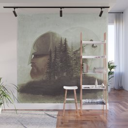 The man and the wolf Wall Mural