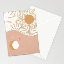 Yin Yang Blush - Sun & Moon Stationery Cards