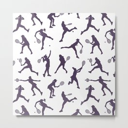 Royal Purple Tennis Players Metal Print