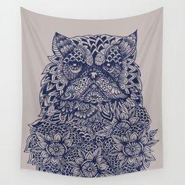 Mandala of Persian Cat Wall Tapestry