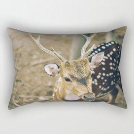 deer portrait Rectangular Pillow