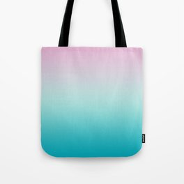 Pastel Ombre Pink Blue Teal Gradient Pattern Tote Bag