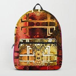 1001 Lights Pattern (gold-magenta-vermillion) Backpack
