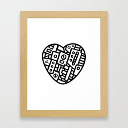 Iron heart (B&W Edition) - PM Framed Art Print