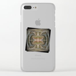 Abstract Nature Mandala Clear iPhone Case