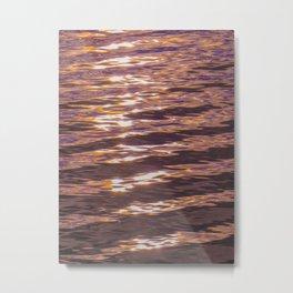 abstract water gradient 0881 Metal Print