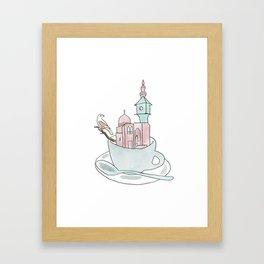Cairo, Coffee, Birdhouse Framed Art Print