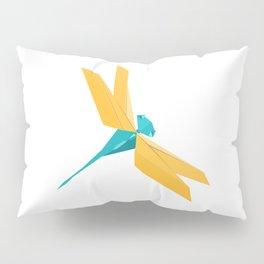 Origami Dragonfly Pillow Sham