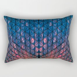 Blue Geometric Design Rectangular Pillow