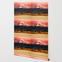 Sunset Snowy Mountain - Mt. Hood Wallpaper