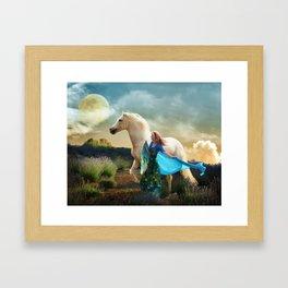 Lady in Blue - Spirit Connection Framed Art Print