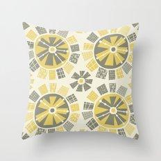 Mod Floral Throw Pillow