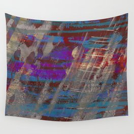 Depth - Abstract, Textured Oil Painting Wall Tapestry