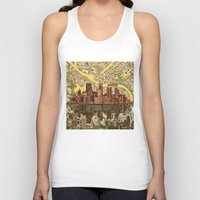 pittsburgh Tank Tops featuring pittsburgh city skyline by Bekim ART