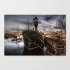 Hull Marina at Night Canvas Print