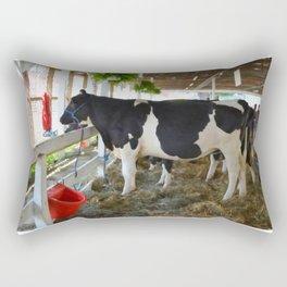 Black and white cow Rectangular Pillow