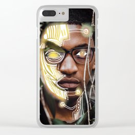 Robot II Clear iPhone Case
