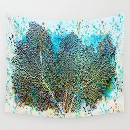 Ocean Sea Fan by Barbara Chichester Paintographer Wall Tapestry