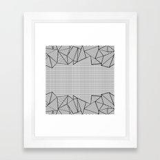 Grids and Stripes Framed Art Print