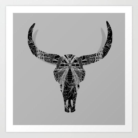 Boho Decor Skull Design Art Print