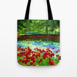 Colorful Impressionist Flower Field - II Tote Bag