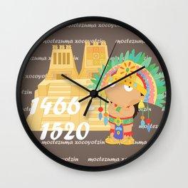 Moctezuma Xocoyotzin Wall Clock