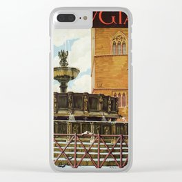 Travel Perugia and Fontana Maggiore Clear iPhone Case
