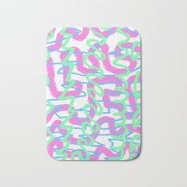 Neon Graffiti Bath Mat