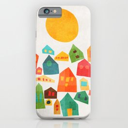 Looking at the same sun iPhone Case