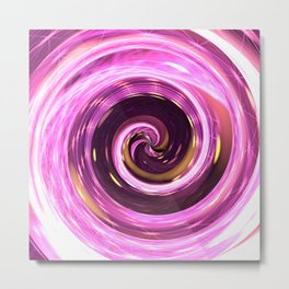 Abstract colored spiral Metal Print