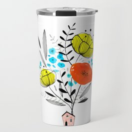 Blooming house Travel Mug