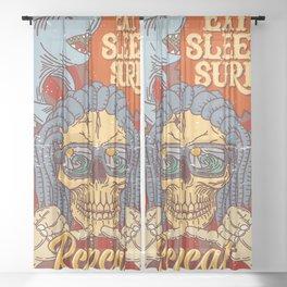 EAT SLEEP SURF - Hang Loose Sheer Curtain