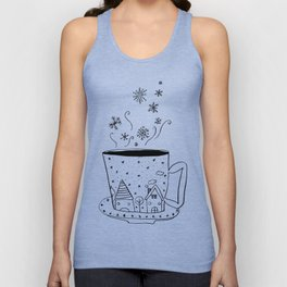 A cup of snow flakes Unisex Tank Top