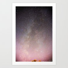 The Milky Way Arm Art Print