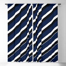 TEAM COLORS 1...navy, black white Blackout Curtain