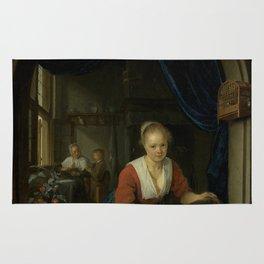 "Gerard Dou ""Maid at the Window"" Rug"
