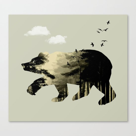 Bear Day Out Canvas Print